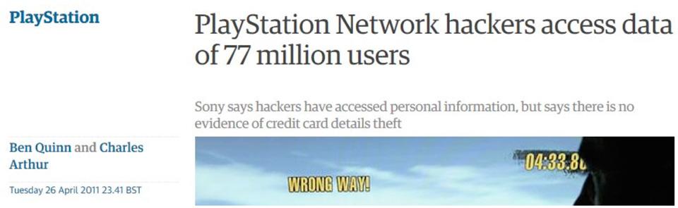 hacking su playstation network