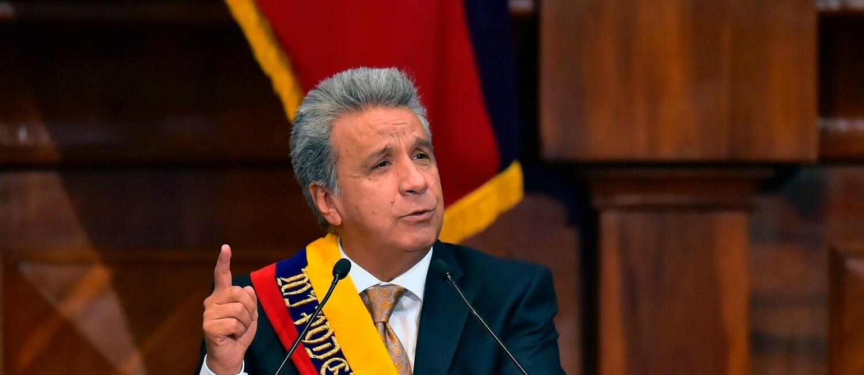 Foto del Presidente dell'Ecuador Moreno